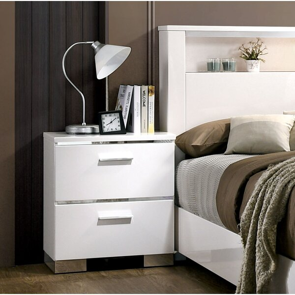 Ricka 2 Drawer Nightstand by Brayden Studio