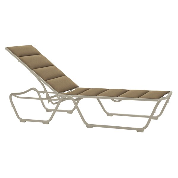 Millennia Padded Sling Reclining Chaise Lounge by Tropitone