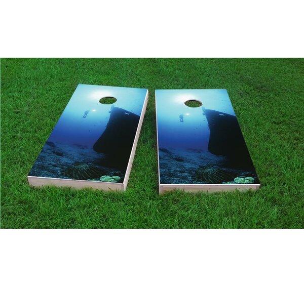 Shipwreck Scuba Dive Light Weight Cornhole Game Set by Custom Cornhole Boards