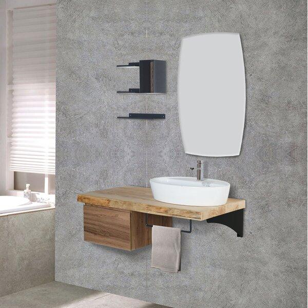 Clavene 47 Wall-Mounted Single Bathroom Vanity Set with Mirror