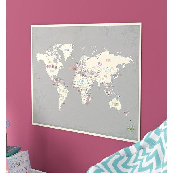 Lawanda World Map Paper Print by Viv + Rae