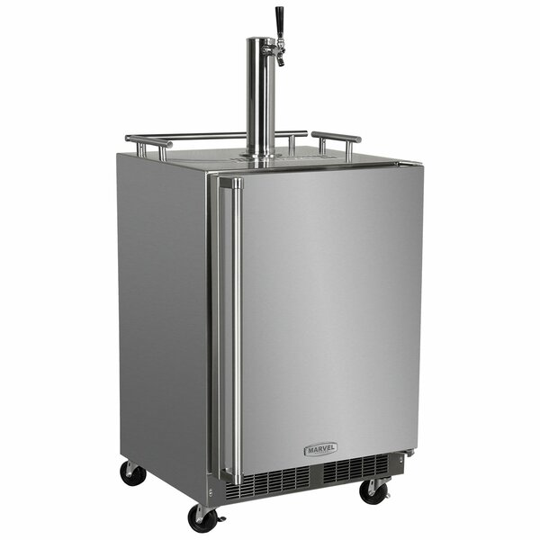 5.7 cu. ft. Outdoor Mobile Single Tap Full Size Kegerator by Marvel