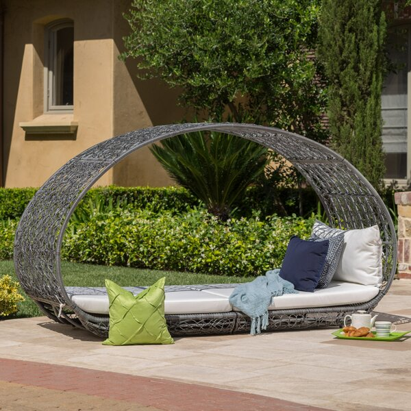Lavina Outdoor Patio Daybed with Cushions by Mistana
