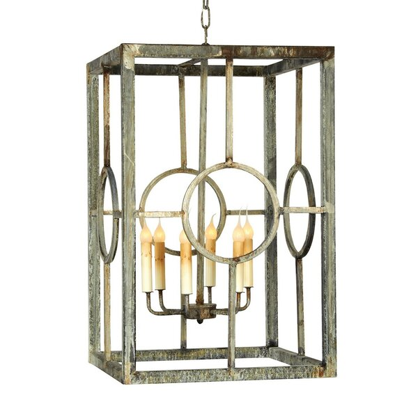 Hampton 6-Light Candle Style Rectangle / Square Chandelier By Ellahome