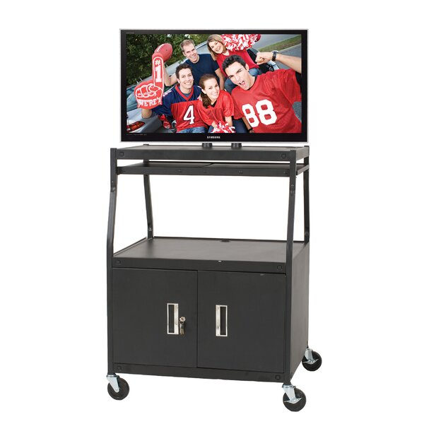 Wide Body Flat Panel AV Cart by Balt
