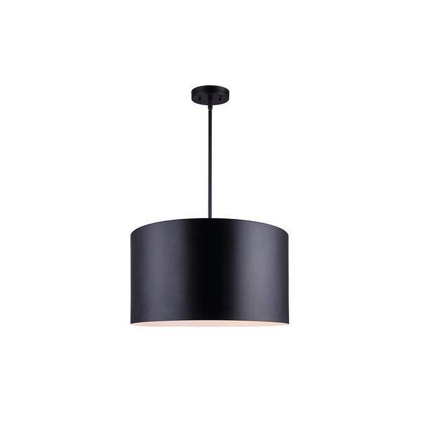 Timpson 3-Light Unique / Statement Drum Chandelier by Everly Quinn Everly Quinn