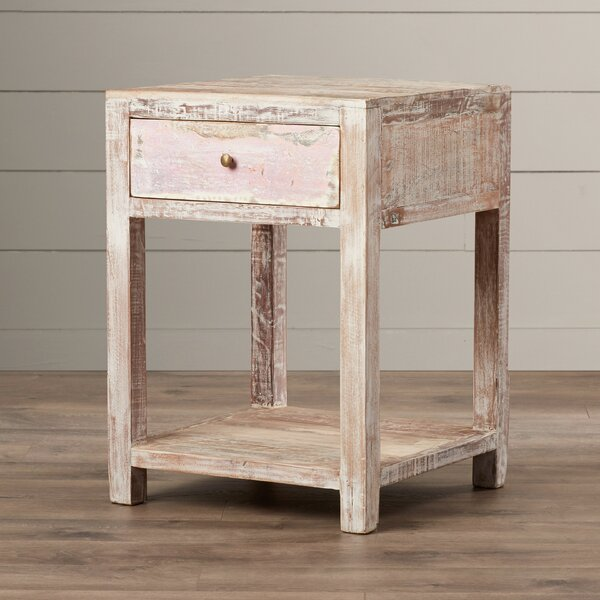 Posey Stripped Teak End Table by August Grove