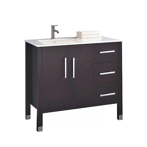 Predmore Modern 40 Wood Base Single Bathroom Vanity Set