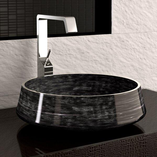 Exte Circular Vessel Bathroom Sink by Maestro Bath