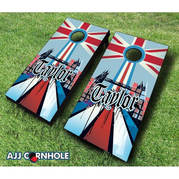 10 Piece English Surname Cornhole Set by AJJ Cornhole