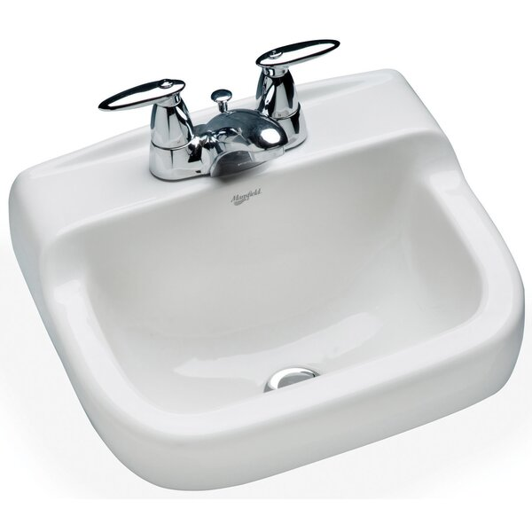 Spruce Cove Vitreous China 17 Wall Mount Bathroom Sink with Overflow by Mansfield Plumbing Products