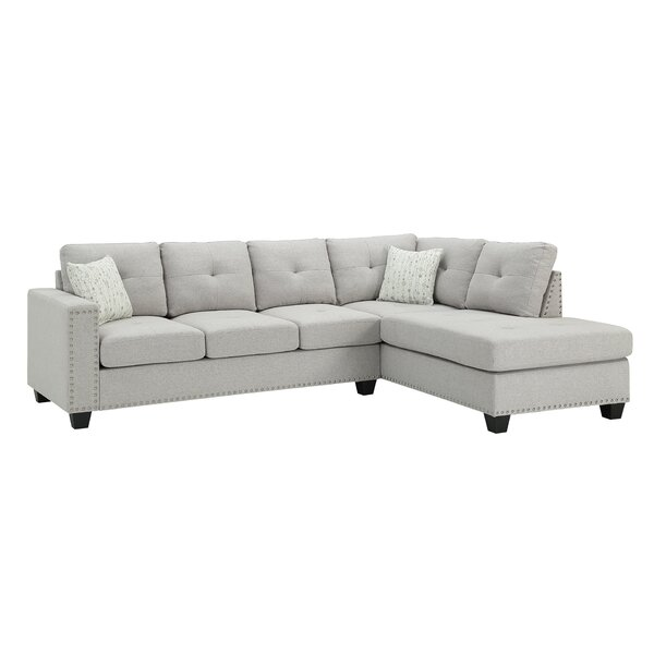 Everleigh Reversible Sectional with Ottoman by Winston Porter