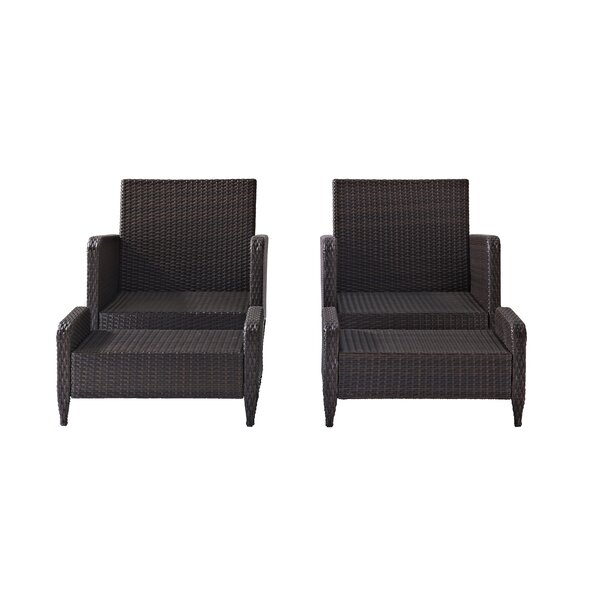 Mosca 4 Piece Rattan Seating Group with Cushions by World Menagerie World Menagerie