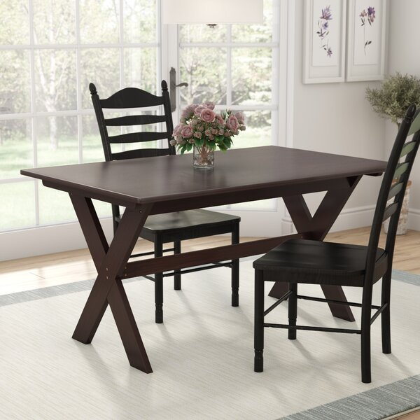 Georgii Trestle Wood Dining Table by Darby Home Co