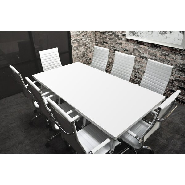 Solispatio Lucidum 9 Piece 6 Rectangular Conference Table