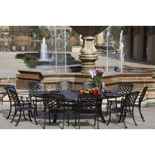 Thompson 11 Piece Dining Set with Cushions by Alcott Hill