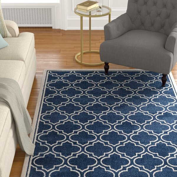 Carman Blue/Beige Indoor/Outdoor Area Rug by Charlton Home
