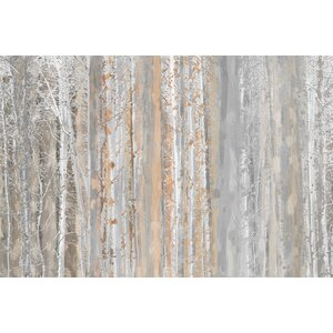 'Aspen Forest 1' Painting Print on Wrapped Canvas by Union Rustic