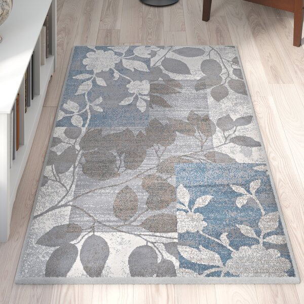 Albion Beige/Blue Area Rug by Winston Porter