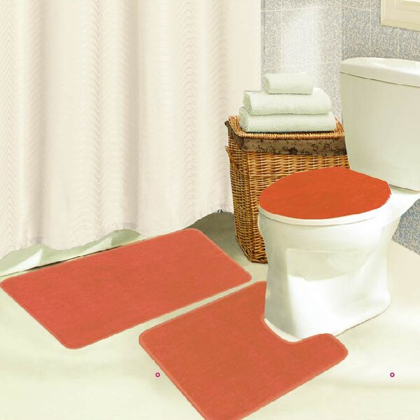 Waugh Rectangle Non-Slip piece Bath Rug Set