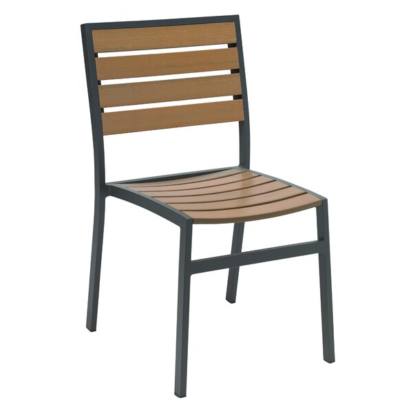 Gayla Stacking Patio Dining Chair by Bay Isle Home