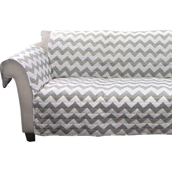 Primey Chevron Box Cushion Loveseat Slipcover by Latitude Run
