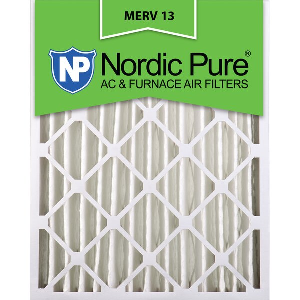 Merv 13 Dust Reduction Pleated Air Conditioner/Furnace Filter (Set of 2) by Nordic Pure