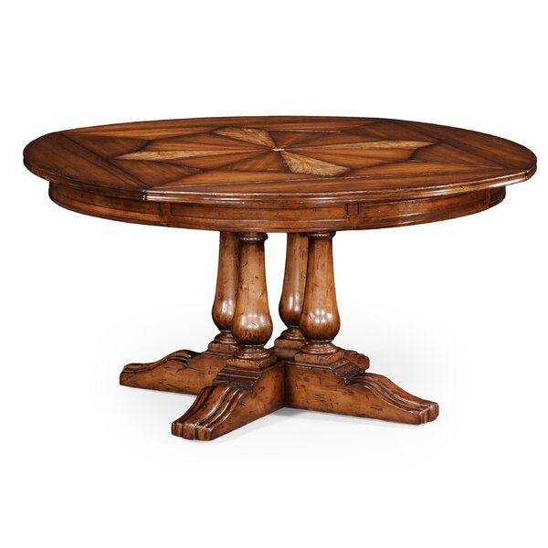 Country Extendable Solid Wood Dining Table by Jonathan Charles Fine Furniture Jonathan Charles Fine Furniture