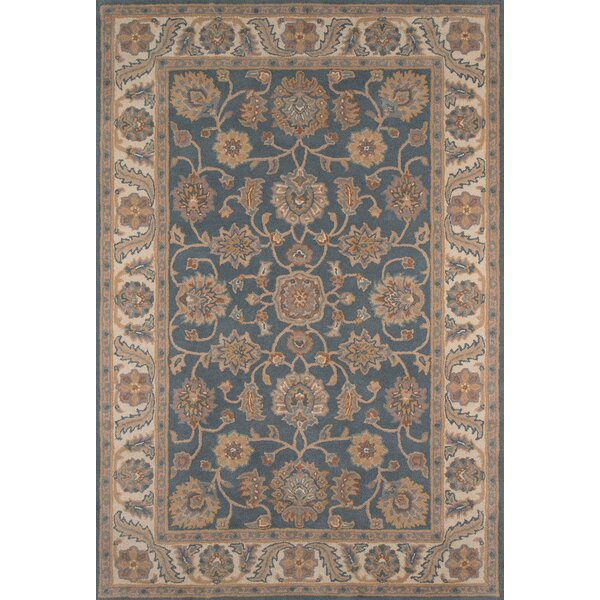 Salazar Hand-Tufted Blue/Beige Area Rug by Charlton Home