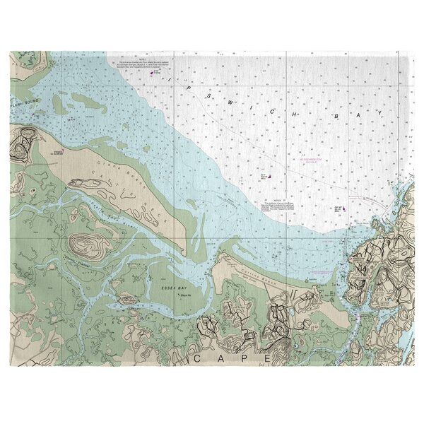 Essex Bay and Essex River, MA 18 Placemat (Set of 4) by East Urban Home