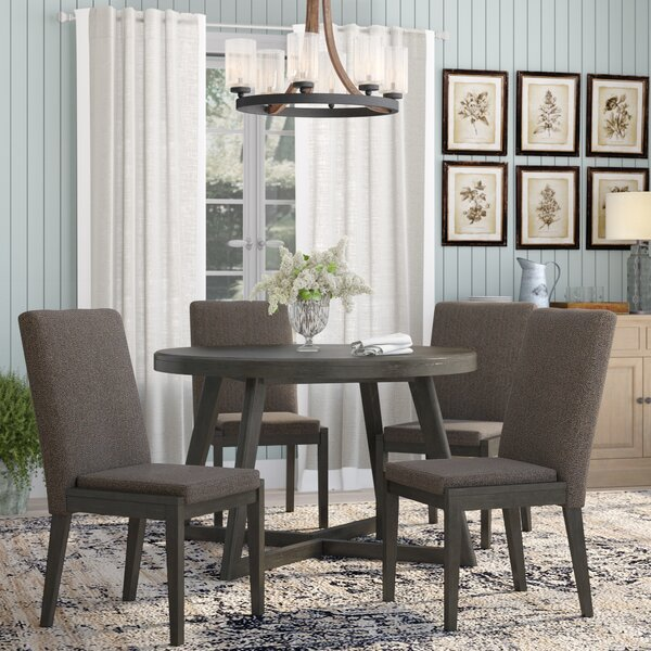 Bayle 5 Piece Solid Wood Dining Set by Laurel Foundry Modern Farmhouse