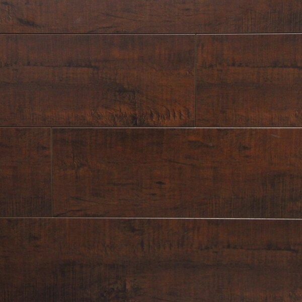 5 x 48 x 12.3mm Laminate Flooring in Mocha Maple (Set of 22) by Serradon