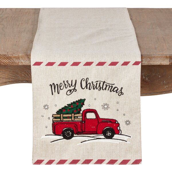 Beal Holiday Truck Table Runner by The Holiday Aisle