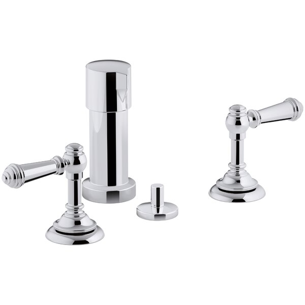 Artifacts Widespread Bidet Faucet with Lever Handles by Kohler