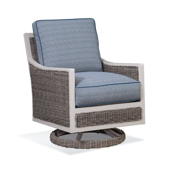 Molly Patio Swivel Patio Chair with Cushions by Braxton Culler