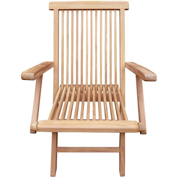 Dramieco Folding Teak Patio Dining Chair (Set of 2) by Highland Dunes