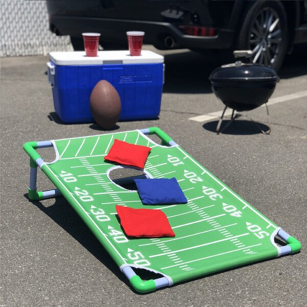 Portable PVC Framed Football 11 Piece Cornhole Board Set by GoSports