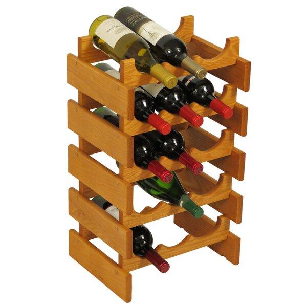 Dakota 15 Bottle Floor Wine Rack By Wooden Mallet Wonderful