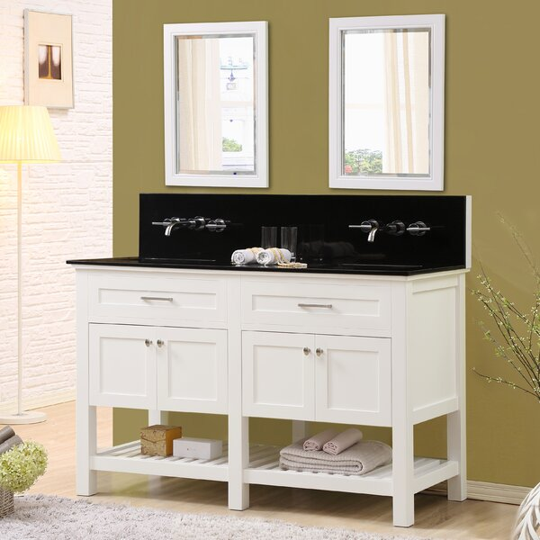 Fairfield 60 Double Bathroom Vanity Set with Mirrors by Latitude Run