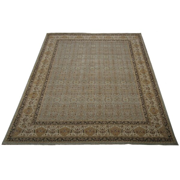 One-of-a-Kind Tabriz Hand-Knotted Wool Ivory Area Rug by Pasargad