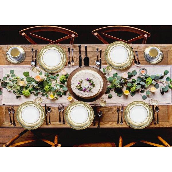 Isabella 57 Piece Dinnerware Set, Service for 8 by Lorren Home Trends