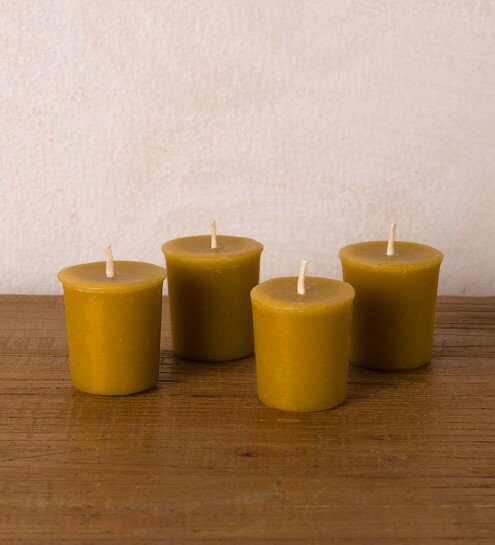 All Natural Scented Votive Candle (Set of 4) by World Menagerie