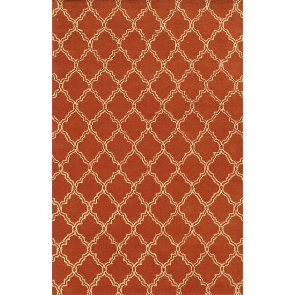 Marmaris Hand-Tufted Orange Area Rug by Meridian Rugmakers