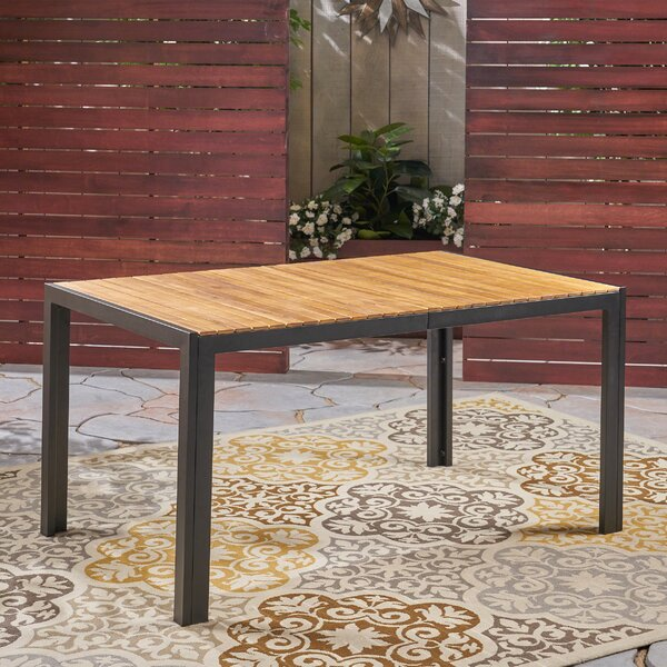 Starr Solid Wood Dining Table by Loon Peak