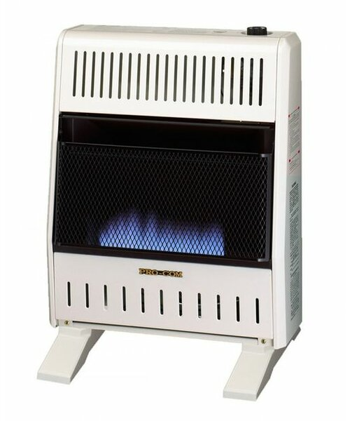 20,000 BTU Natural Gas/Propane Wall Mounted Heater