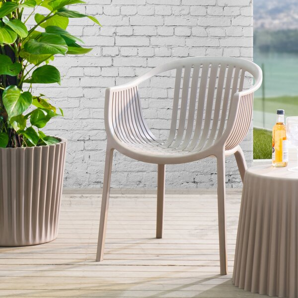 Hilliard Stacking Patio Dining Chair (Set of 2) by Wade Logan