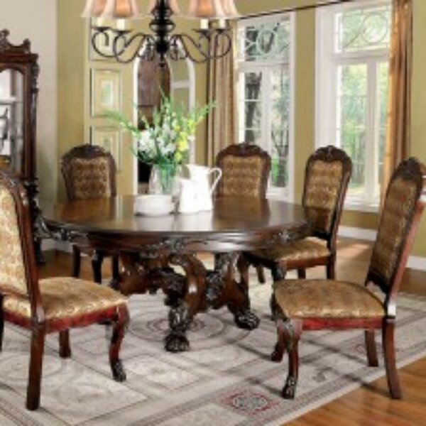 Choudhury 7 Piece Solid Wood Dining Set By Astoria Grand