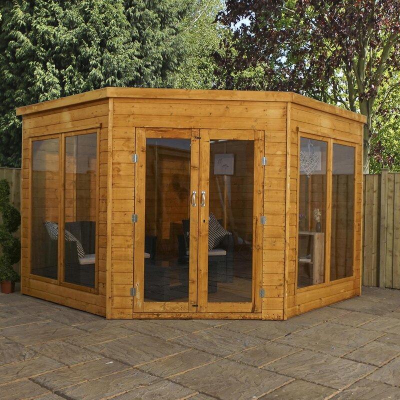 Home Essence Premium Corner Summerhouse Reviews Wayfaircouk - Corner summer house