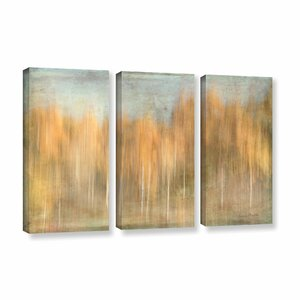 'Trees Ethereal Dream' by Ramona Murdock 3 Piece Painting Print on Gallery Wrapped Canvas Set by ArtWall