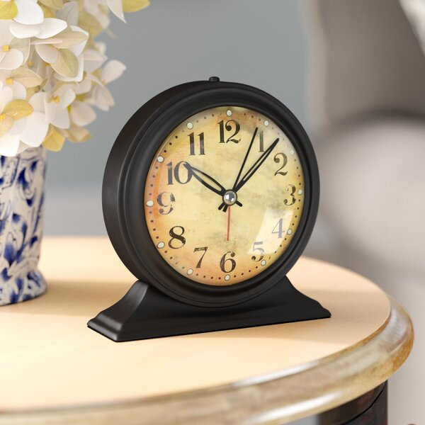 Antique Look Metal Alarm Clock by Alcott Hill